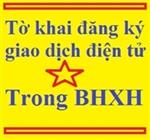 Tờ khai đăng ký sử dụng phương thức giao dịch điện tử trong lĩnh vực BHXH